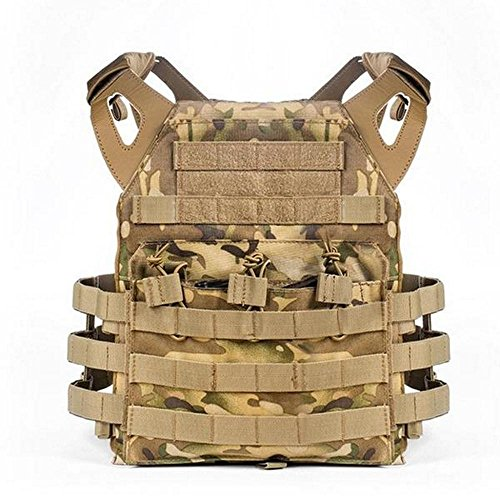 WTS Military Style Tactical Vest Molle System - 9 Color Options