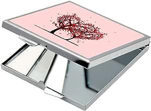 مرآة جيب، بتصميم رومانسي ، شكل مربع