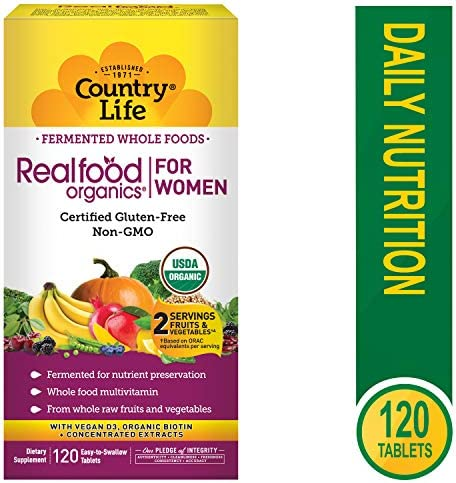 Country Life – Realfood Organics Her Daily, 120 Tablets
