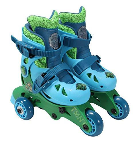 PlayWheels Teenage Mutant Ninja Turtles Convertible 2-in-1 Skates, Junior Size 6-9 by PlayWheels