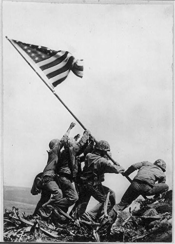 Photo: Marines,5th Division,American Flag,Mount Suribachi,Iwo Jima,1954,WWII,World War