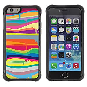 """All-Round Hybrid Rubber Case Hard Cover Protective Accessory Compatible with Apple iPhone 6PLUS ¡ê¡§5.5"""") - art vibrant vivid colors stripes"""