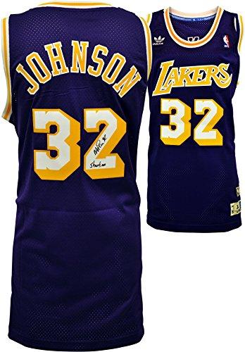 Magic Johnson Los Angeles Lakers Autographed adidas Swingman Purple Jersey with