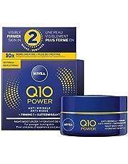 NIVEA Q10 POWER Anti-wrinkle + Firming Night Face Moisturizer 50 mL, Deep Moisturizing Night Cream, Anti-Aging Cream Fights Fine Lines and Wrinkles