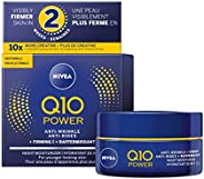 NIVEA Q10 POWER Anti-wrinkle + Firming Night Face Moisturizer 50 mL, Deep Moisturizing Night Cream, Anti-Aging