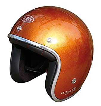 Amazonfr Torx Casque Moto Wyatt Shiny Glitter Orange Taille M