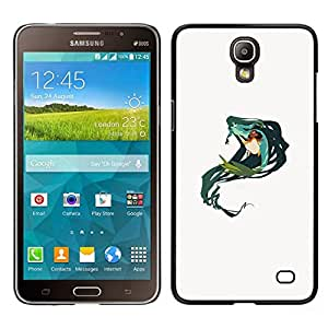 EJOY---Cubierta de la caja de protección para la piel dura ** Samsung Galaxy Mega 2 ** --Sirena Verde Naturaleza de hadas del arte del dibujo