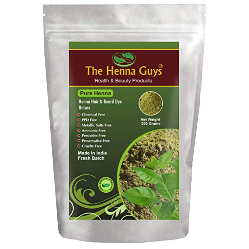 - The Henna Guys 100% Pure and Natural Henna Powder for Hair Dye/Color, 200g