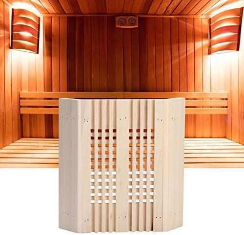 Mumusuki Sauna Reposacabezas Cubierta de la luz de la habitaci/ón L/ámpara a Prueba de explosiones protecci/ón L/ámpara de Esquina Cuadrada de Madera Sombra Accesorios de la sa