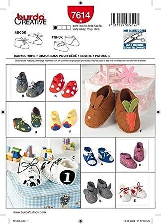 Schnittmuster. Babyschuhe. 7614: Amazon.de: Küche & Haushalt