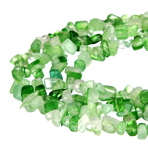 wanjin green Jade Stone crystal Chips Beads 5~8mm 34 Inches per strand For Jewelery Making