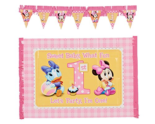 2-Piece Minnie's 1st Birthday High Chair Decoration Kit -