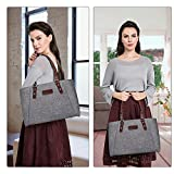 S-ZONE Womens Leather Handbags Lightweight Large Tote Casual Work Bag