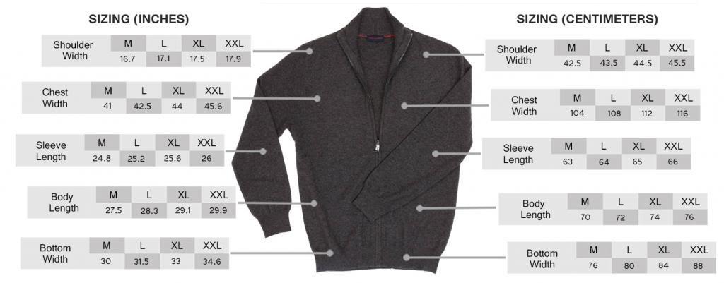 Men's Zip Cardigan - 100% Cashmere - by Citizen Cashmere, Dk Gr XL 42 103-09-04 by Citizen Cashmere (Image #6)