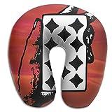Gtrgh Poker Super U Type Pillow Neck Pillow Outdoor Travel Pillow Relief Neck Pain