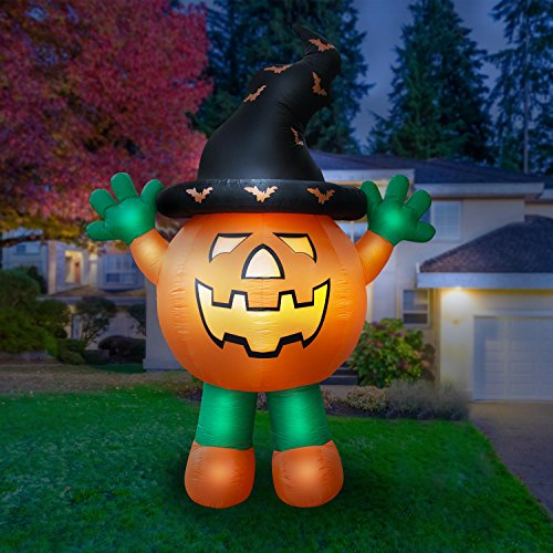 Holidayana Giant 10 Ft Airblown Inflatable Halloween Pumpkin