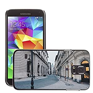 Hot Style Cell Phone PC Hard Case Cover // M00170492 Street City Urban Facades Buildings // Samsung Galaxy S5 S V SV i9600 (Not Fits S5 ACTIVE)