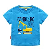 Sun Baby Toddler Boys Excavator Shirt Short Sleeve Cute Cartoon T Shirt Size 2-7T