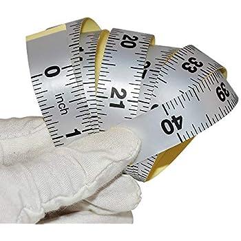 "Ruler Sticker Stickymeasure 60/"" Green Self Adhesive Vinyl Measuring Tape"