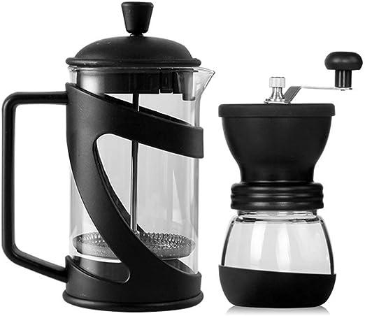 Atten Prensa Italiana Fabricante de café y Molinillo de café Olla Conjunto, cafetera Moka Tetera con filtros triples y Duradero Resistente al Calor de Cristal (Size : L): Amazon.es: Hogar
