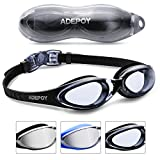 AdePoy Swimming googles Swimming Goggles Anti Fog Crystal Clear Vision with UV Protection No Leaking...