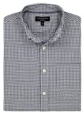 Banana Republic - Men's - Slim-Fit Untucked Oxford (Multiple Color/Size Options) (Medium, Navy Gingham)