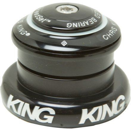 Chris King Inset 7 Headset Bold Black, Tapered Inset