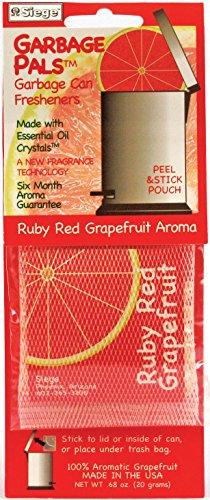Harold Import 3702 Ruby RED Grapefruit Garbage CAN Freshener