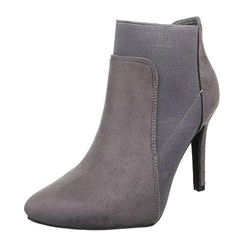 Ital-Design - Botas plisadas Mujer Grau F75