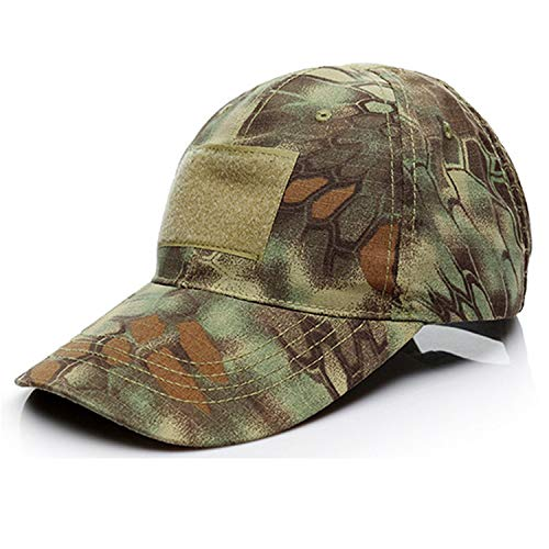 Chibi-Store Military Hats Men Summer Camouflage Army Tactical Hats Adjustable Breathable Men,Green Python