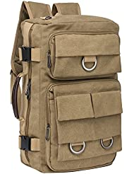 Riavika Canvas Travel Tote Convertible Laptop Backpack Luggage Bag Travel Rucksack