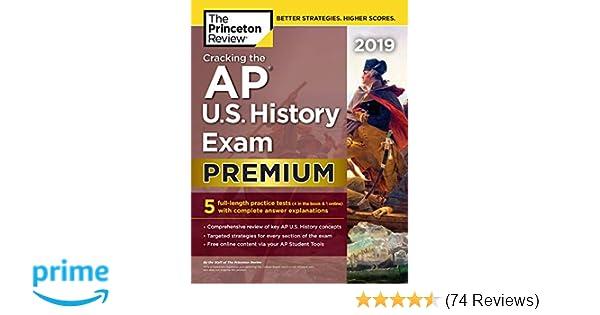 Amazon com: Cracking the AP U S  History Exam 2019, Premium