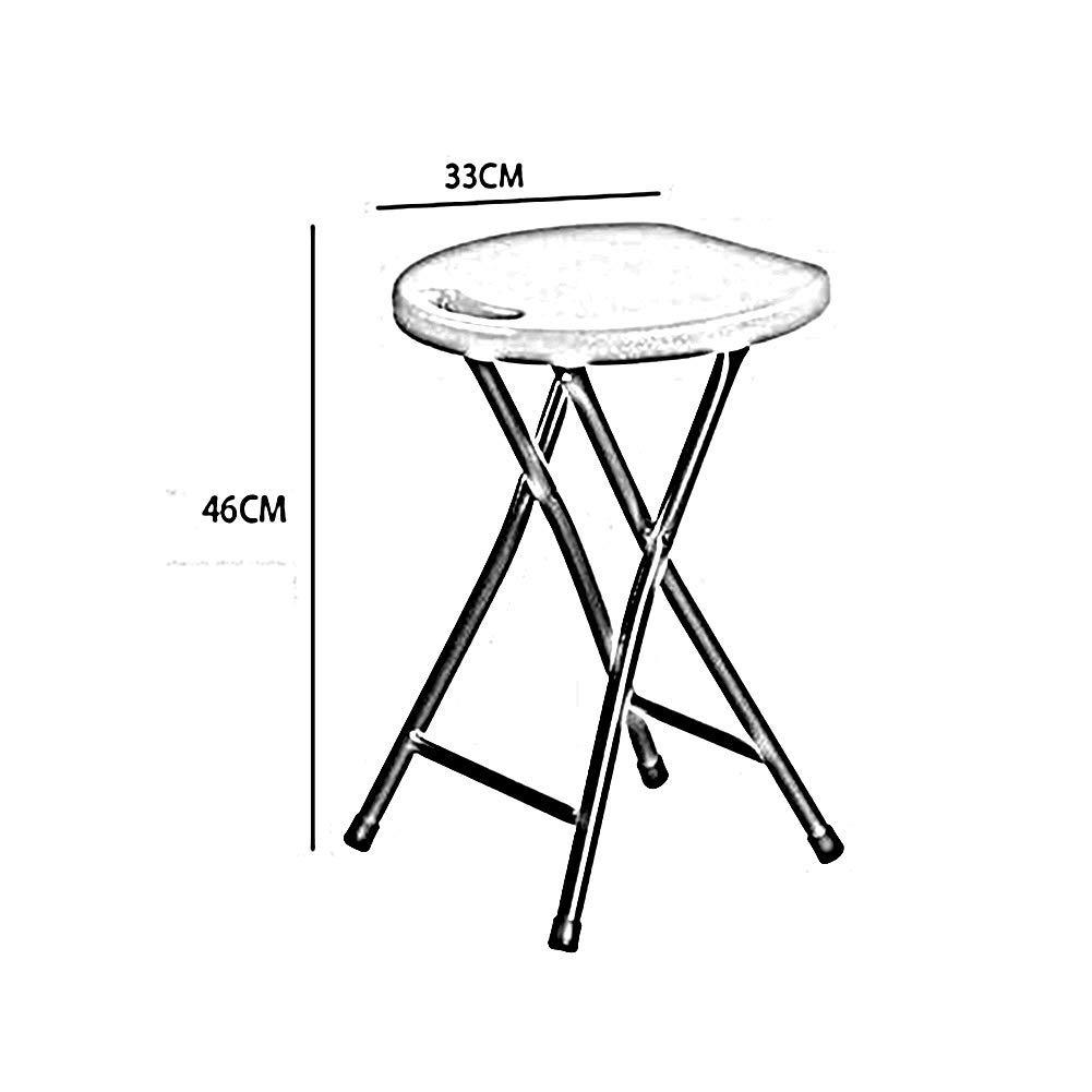 JIEER-C Fritid kontorsstol hopfällbar pall hög styrka 200 kg kapacitet unik ergonomisk sittdesign 46 cm höjd hållbar stark Orange