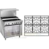 Imperial Commercial Restaurant Range 36 Step Up 6 Burners Cabinet Base Natural Gas Ir-6-Su-Xb