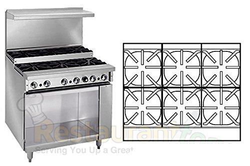 Imperial Commercial Restaurant Range 36'' With 6 Burners 1 Cabinet Base Propane Model Ir-6-Xb-P by Imperial
