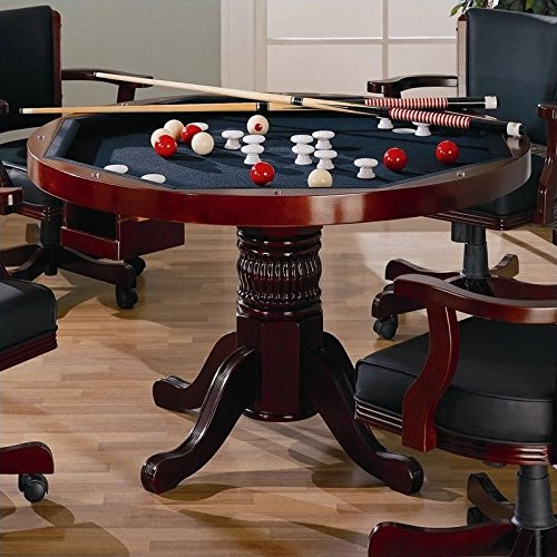 3 IN 1 GAME TABLE POKER POOL PEDESTAL TABLE by Coaster Home Furnishings