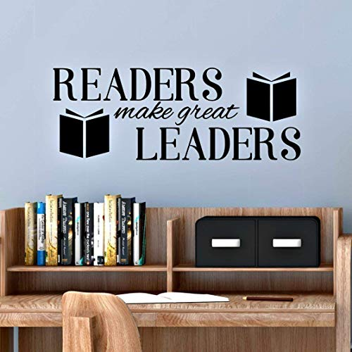 English Corner - Reading Corner Decal, Readers Make Great Leaders, Classroom Wall Decal, 30