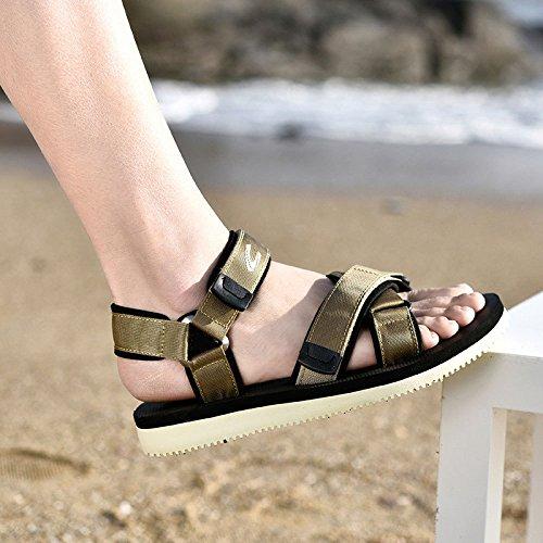 Scarpe Comodi Spiaggia Casual Sandali da LEDLFIE Uomo da Khaki Antiscivolo Sandali Estivi zIqR0xU