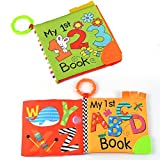 Tumama Soft Book for Babies Crinkle Cloth Books with...