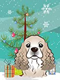 Caroline's Treasures BB1588GF Christmas Tree and Cocker Spaniel Garden Flag, Small, Multicolor