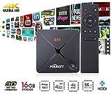 NEW Puersit 2GB+16GB TV BOX Amlogic M9S Kodi 16.0 Quad Core Full Loaded Wifi, 1080P, 4K Smart Media Player with EMMC/H.265/Root/IPTV/OTT TV