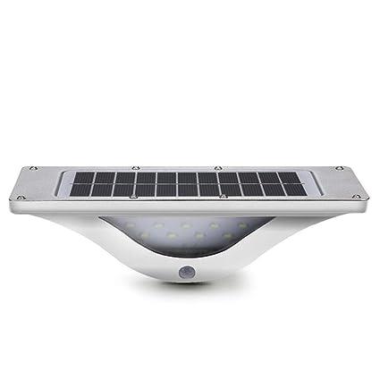 LED Luz Solar, Luces 16 LED de Exterior Lámpara de Jardin con Sensor de Movimiento