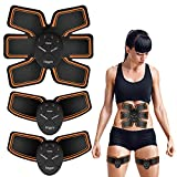 Abdominal Trainers- Fitgym Portable ABS Stimulator Muscle Trainer with Rhythm & Soft Impulse