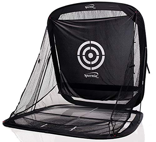 Spornia SPG-7 Golf Practice Net - Automatic Ball Return...