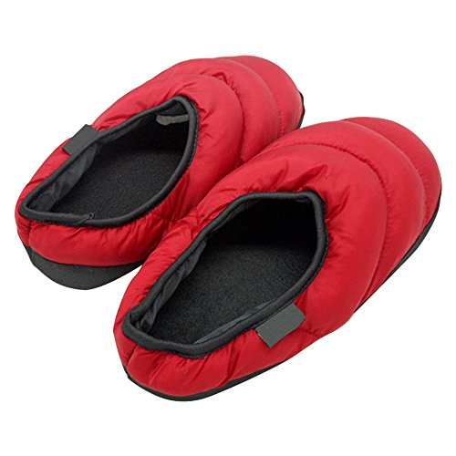Slipper Winter Down Home Shoes skid Men's and Eastlion Slippers Warm Indoor Anti Women Red Keep vfzn7a