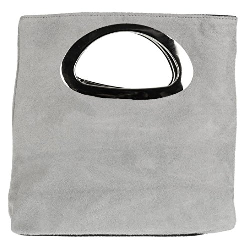claro Handbags de Girly Cartera mano mujer gris para 46wTn