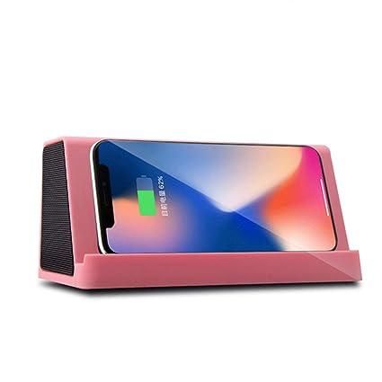 L&Z Cargador inalámbrico rápido con Altavoz Bluetooth ...
