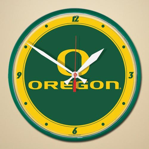 Round Oregon Ducks - NCAA 2922171 University Of Oregon Round Wall Clock, 12.75