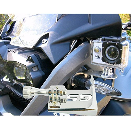 Chrome Front Left Bracket Holder Cam Camera Mount for BMW R 1200 GS R1200GS 2013-2016 BMW R1200GS Adv Motorrad Gopro 4 5