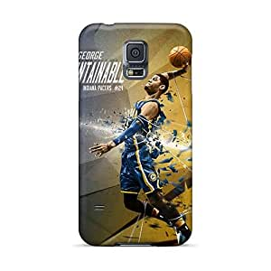 Shock Absorbent Hard Cell-phone Cases For Samsung Galaxy S5 (diL13246BSmQ) Unique Design Vivid Paul George Pictures